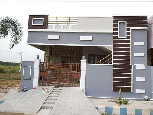 Single Floor East Facing Elevation : Independent house for sale in navaram road rajahmundry